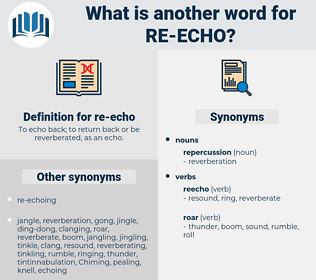 re echo, synonym re echo, another word for re echo, words like re echo, thesaurus re echo