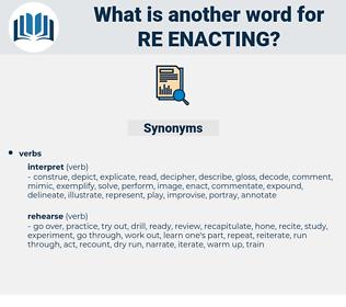 re enacting, synonym re enacting, another word for re enacting, words like re enacting, thesaurus re enacting