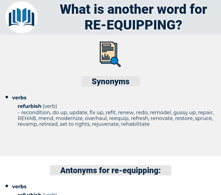 re equipping, synonym re equipping, another word for re equipping, words like re equipping, thesaurus re equipping