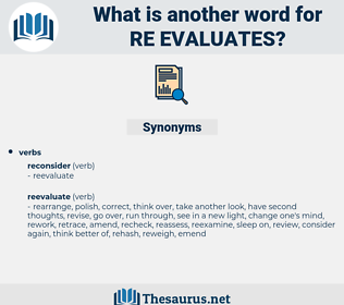 re evaluates, synonym re evaluates, another word for re evaluates, words like re evaluates, thesaurus re evaluates