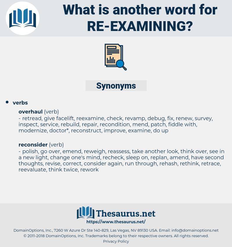 re examining, synonym re examining, another word for re examining, words like re examining, thesaurus re examining