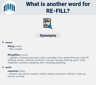 re fill, synonym re fill, another word for re fill, words like re fill, thesaurus re fill