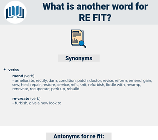 re fit, synonym re fit, another word for re fit, words like re fit, thesaurus re fit