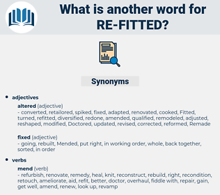 re-fitted, synonym re-fitted, another word for re-fitted, words like re-fitted, thesaurus re-fitted