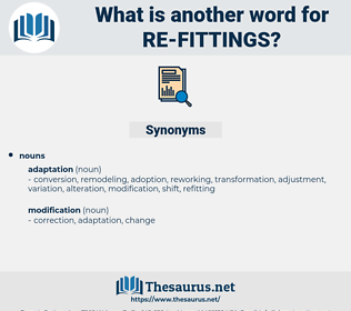 re fittings, synonym re fittings, another word for re fittings, words like re fittings, thesaurus re fittings
