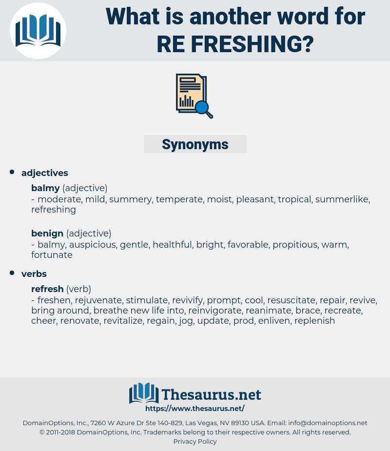 re-freshing, synonym re-freshing, another word for re-freshing, words like re-freshing, thesaurus re-freshing