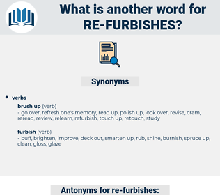 re furbishes, synonym re furbishes, another word for re furbishes, words like re furbishes, thesaurus re furbishes