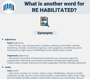 re-habilitated, synonym re-habilitated, another word for re-habilitated, words like re-habilitated, thesaurus re-habilitated