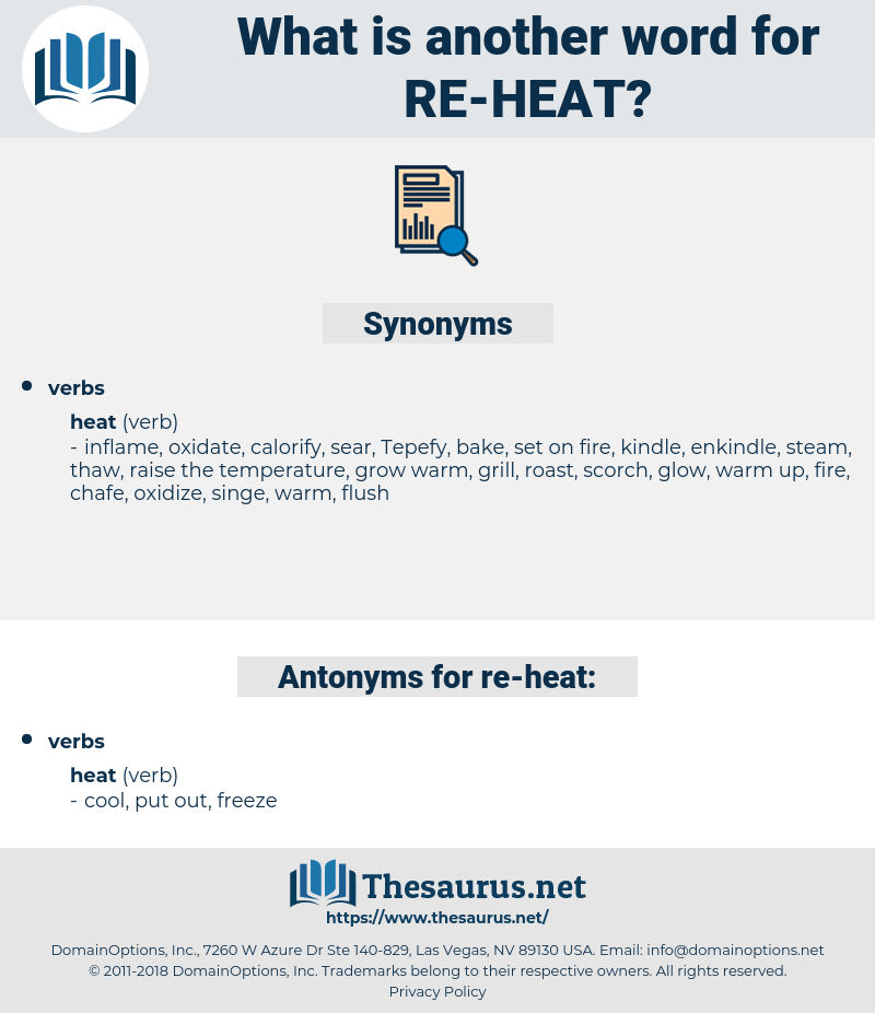 re heat, synonym re heat, another word for re heat, words like re heat, thesaurus re heat