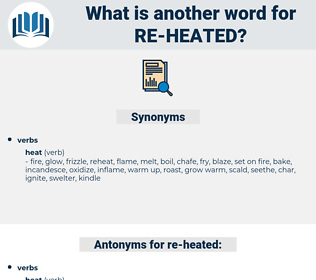re-heated, synonym re-heated, another word for re-heated, words like re-heated, thesaurus re-heated