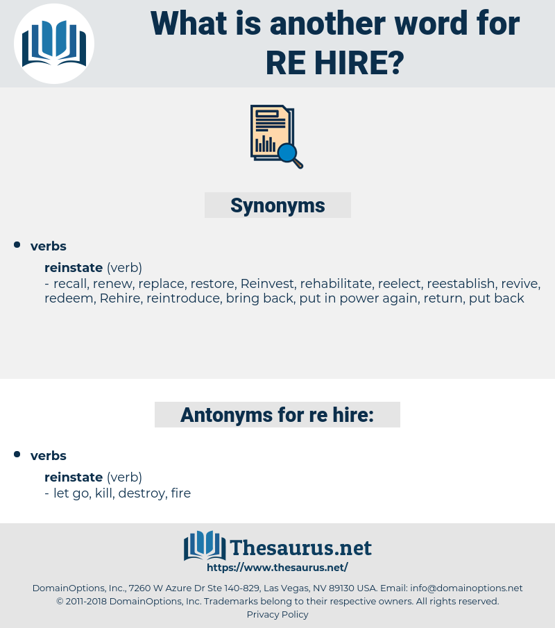 re hire, synonym re hire, another word for re hire, words like re hire, thesaurus re hire