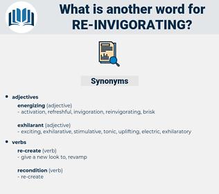 re-invigorating, synonym re-invigorating, another word for re-invigorating, words like re-invigorating, thesaurus re-invigorating