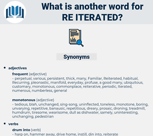 re-iterated, synonym re-iterated, another word for re-iterated, words like re-iterated, thesaurus re-iterated