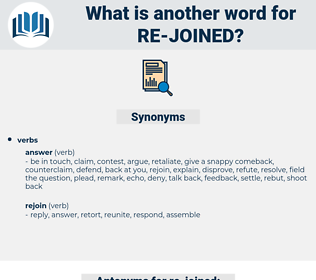 re-joined, synonym re-joined, another word for re-joined, words like re-joined, thesaurus re-joined
