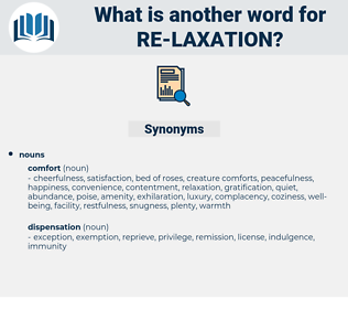 re-laxation, synonym re-laxation, another word for re-laxation, words like re-laxation, thesaurus re-laxation