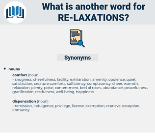 re-laxations, synonym re-laxations, another word for re-laxations, words like re-laxations, thesaurus re-laxations