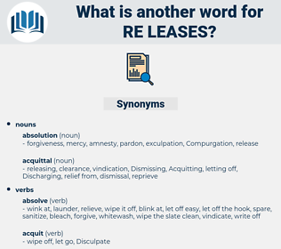 re-leases, synonym re-leases, another word for re-leases, words like re-leases, thesaurus re-leases