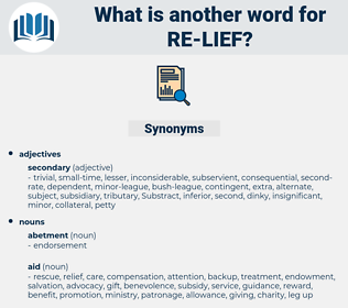 re-lief, synonym re-lief, another word for re-lief, words like re-lief, thesaurus re-lief