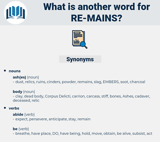 re mains, synonym re mains, another word for re mains, words like re mains, thesaurus re mains