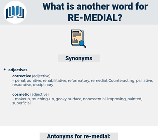 re medial, synonym re medial, another word for re medial, words like re medial, thesaurus re medial