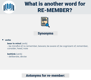 re-member, synonym re-member, another word for re-member, words like re-member, thesaurus re-member