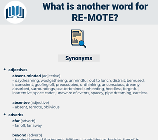 re-mote, synonym re-mote, another word for re-mote, words like re-mote, thesaurus re-mote
