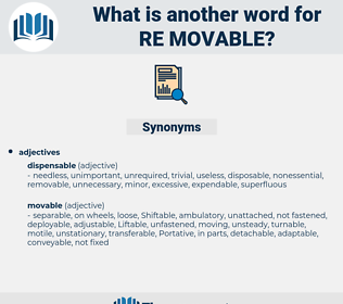 re movable, synonym re movable, another word for re movable, words like re movable, thesaurus re movable