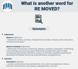 re-moved, synonym re-moved, another word for re-moved, words like re-moved, thesaurus re-moved
