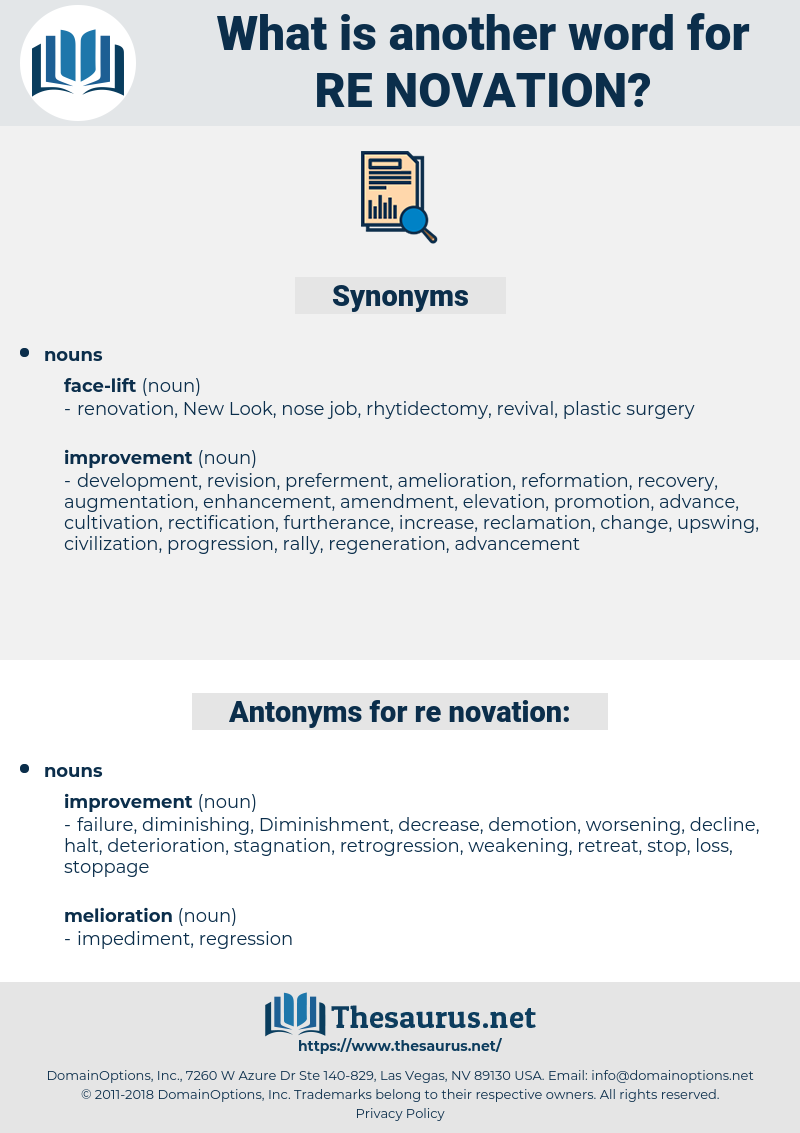 re-novation, synonym re-novation, another word for re-novation, words like re-novation, thesaurus re-novation
