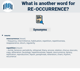 re occurrence, synonym re occurrence, another word for re occurrence, words like re occurrence, thesaurus re occurrence