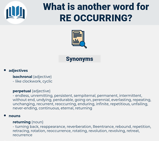 re-occurring, synonym re-occurring, another word for re-occurring, words like re-occurring, thesaurus re-occurring