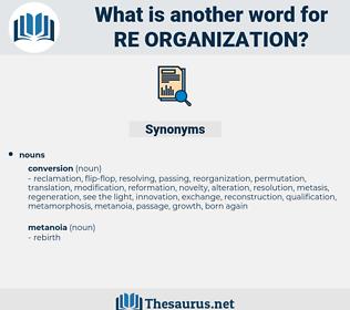 re organization, synonym re organization, another word for re organization, words like re organization, thesaurus re organization