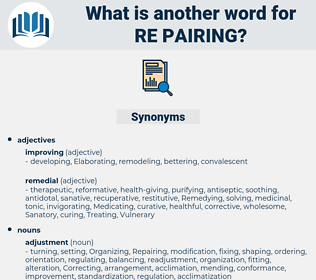 re pairing, synonym re pairing, another word for re pairing, words like re pairing, thesaurus re pairing