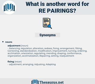 re pairings, synonym re pairings, another word for re pairings, words like re pairings, thesaurus re pairings
