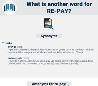 re-pay, synonym re-pay, another word for re-pay, words like re-pay, thesaurus re-pay