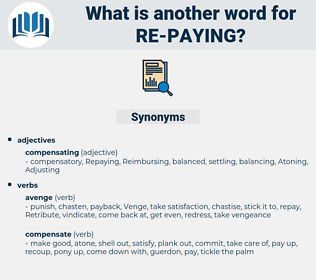 re-paying, synonym re-paying, another word for re-paying, words like re-paying, thesaurus re-paying