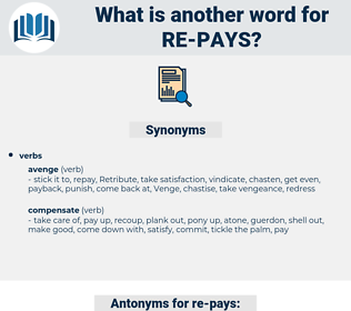 re-pays, synonym re-pays, another word for re-pays, words like re-pays, thesaurus re-pays