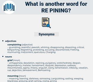 re pining, synonym re pining, another word for re pining, words like re pining, thesaurus re pining