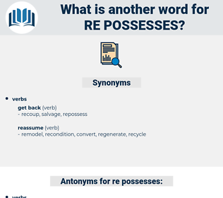 re-possesses, synonym re-possesses, another word for re-possesses, words like re-possesses, thesaurus re-possesses