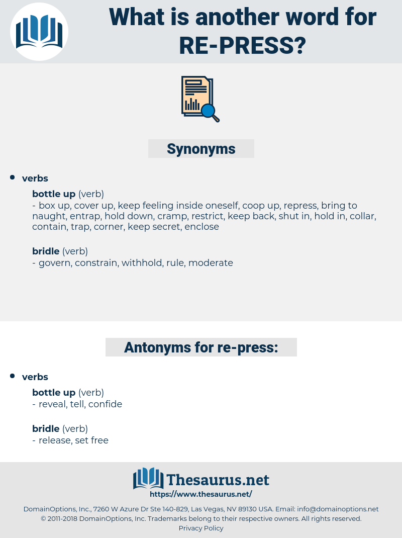 re-press, synonym re-press, another word for re-press, words like re-press, thesaurus re-press