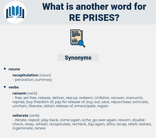 re-prises, synonym re-prises, another word for re-prises, words like re-prises, thesaurus re-prises