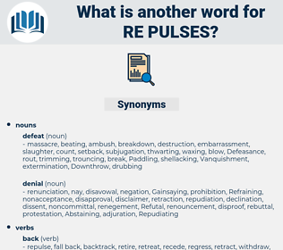 re pulses, synonym re pulses, another word for re pulses, words like re pulses, thesaurus re pulses