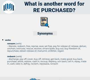 re purchased, synonym re purchased, another word for re purchased, words like re purchased, thesaurus re purchased