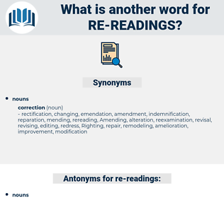 re readings, synonym re readings, another word for re readings, words like re readings, thesaurus re readings