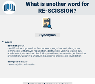 re-scission, synonym re-scission, another word for re-scission, words like re-scission, thesaurus re-scission