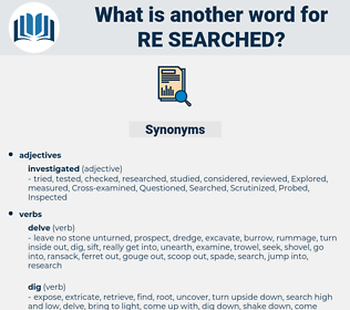 re searched, synonym re searched, another word for re searched, words like re searched, thesaurus re searched