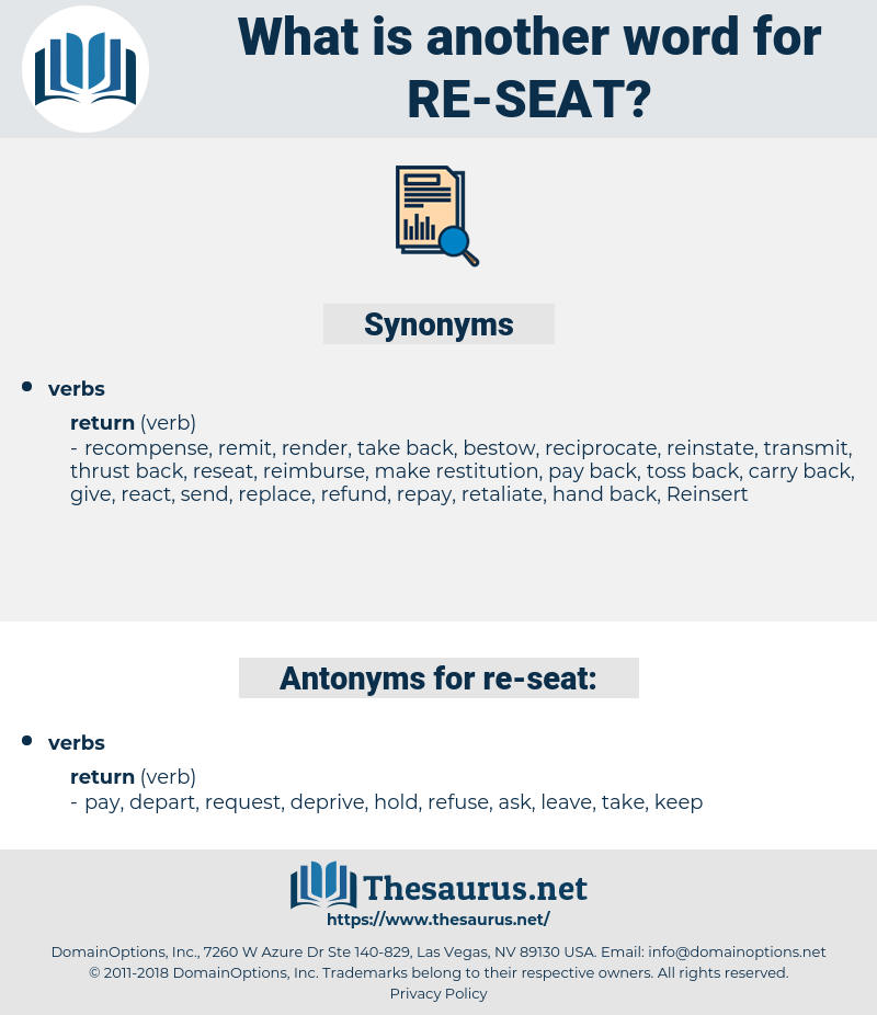 re seat, synonym re seat, another word for re seat, words like re seat, thesaurus re seat