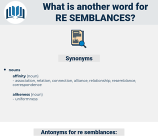 re semblances, synonym re semblances, another word for re semblances, words like re semblances, thesaurus re semblances