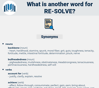 re-solve, synonym re-solve, another word for re-solve, words like re-solve, thesaurus re-solve