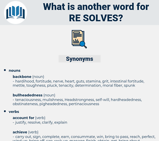 re-solves, synonym re-solves, another word for re-solves, words like re-solves, thesaurus re-solves